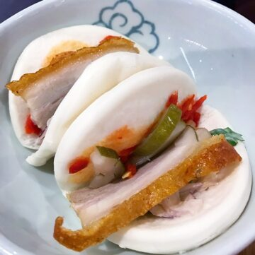 steamed pork bao made to order in the Qantas Singapore Lounge