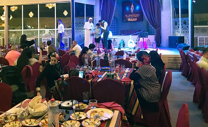 Cultural entertainment at Al Hadheerah Desert Restaurant Dubai
