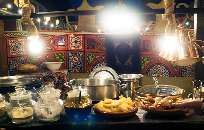 Part of the buffet at Al Hadheerah Desert Restaurant Dubai