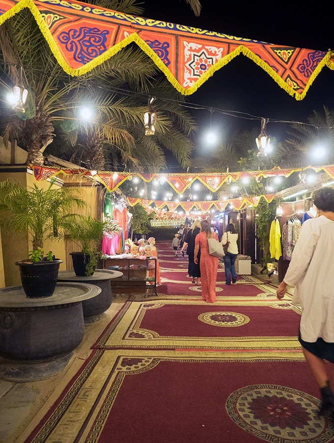 The souk at Al Hadheerah Desert Restaurant Dubai