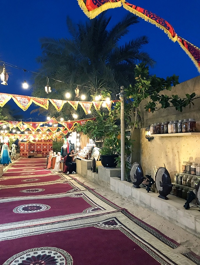 The market entrance to Al Hadheerah Desert Restaurant Dubai