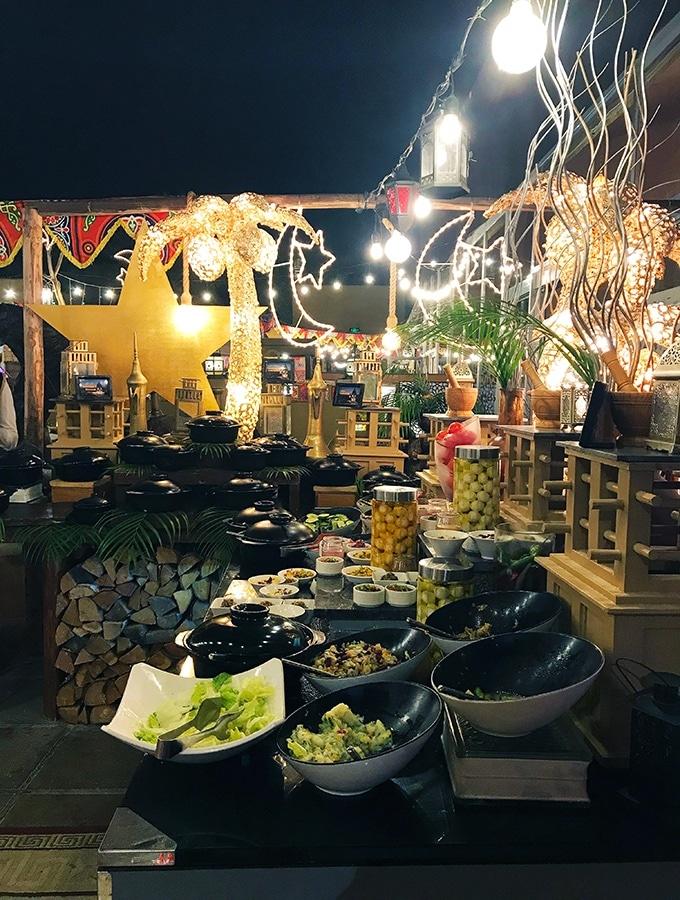 Part of the buffet at Al Hadheerah Desert Restaurant Dubai
