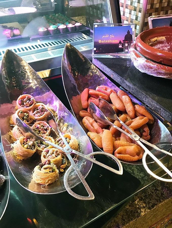 Middle Eastern Sweet Treats at Al Hadheerah Desert Restaurant Dubai