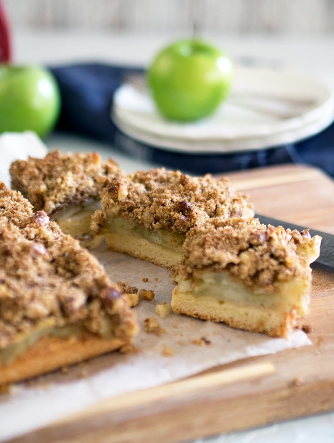 Apple crumble in slice form - Apple Walnut Crumble Slice