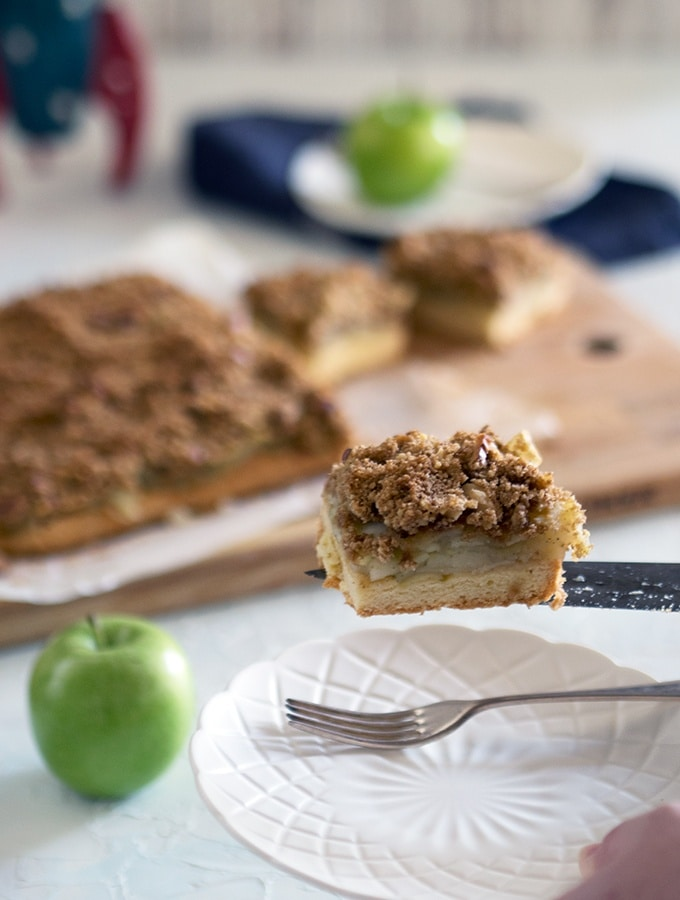A great slice for picnics, Apple Walnut Crumble Slice