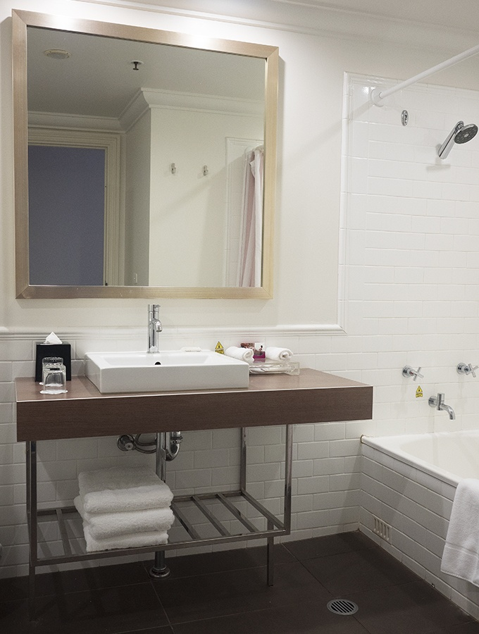 The super sized bathroom at the Crowne Plaza Terrigal - king pool view room