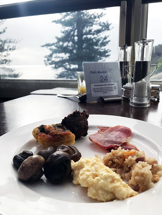 Crowne Plaza Terrigal Seasalt Restaurant Breakfast Buffet - an amazing view with breakfast