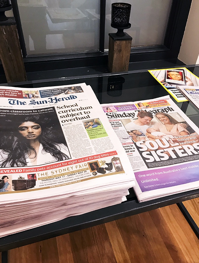 Crowne Plaza Terrigal Seasalt Restaurant Breakfast Buffet - Sunday papers for the win!