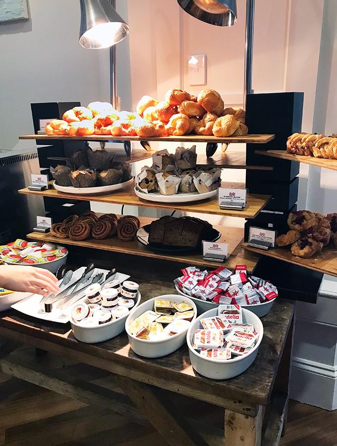 Crowne Plaza Terrigal Seasalt Restaurant Breakfast Buffet - they have a wide selection of pastries