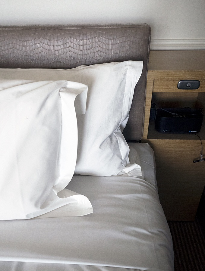 What are the pillows like at the Crowne Plaza Hotel in Terrigal Central Coast NSW