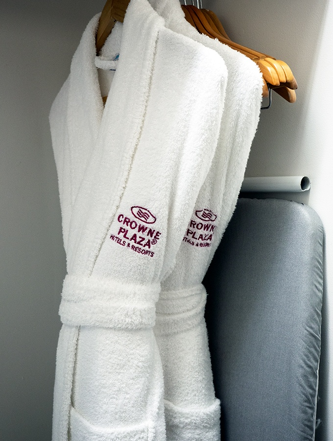 Robes in the Pool View Room at Crowne Plaza Terrigal