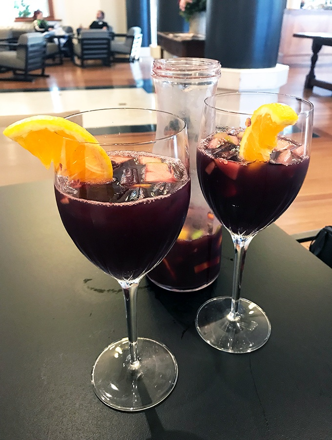 Jug of Sangria at the Crowne Plaza Terrigal