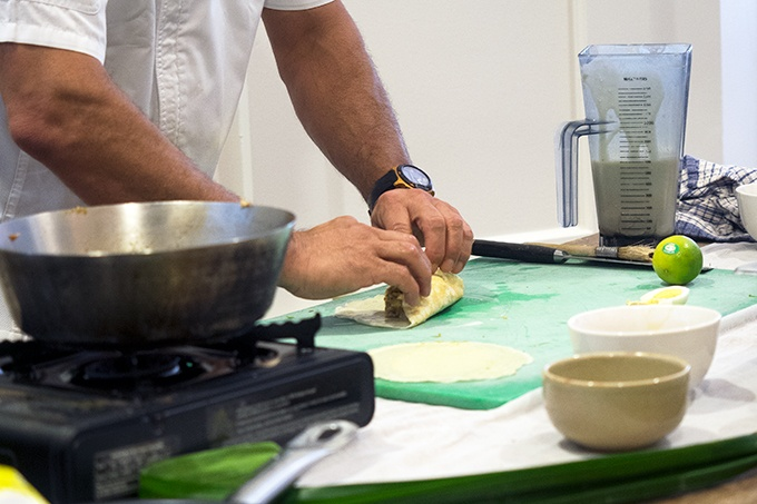How to stuff and fold a pancake - Taste of Sri Lanka with Peter Kuruvita