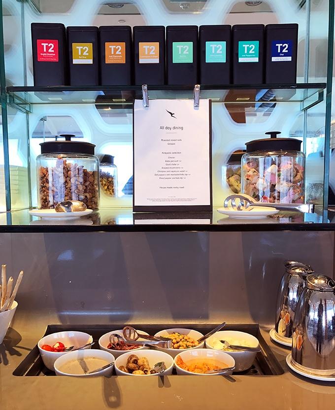 Qantas First Class Lounge Sydney Self Serve Dining Option