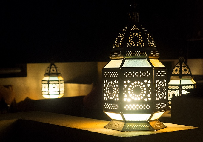 Al Sarab is lit by lanterns when night time falls - Bab Al Shams Resort and Spa