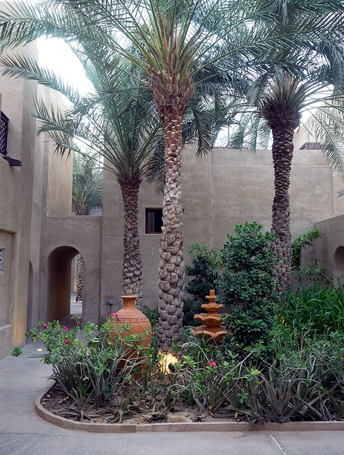 Lush garden in this desert oasis - Bab Al Shams Resort and Spa