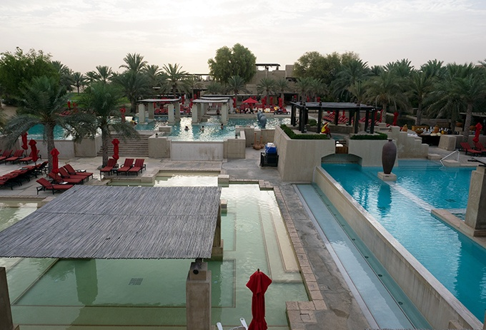 Pools for miles at Bab Al Shams Resort and Spa