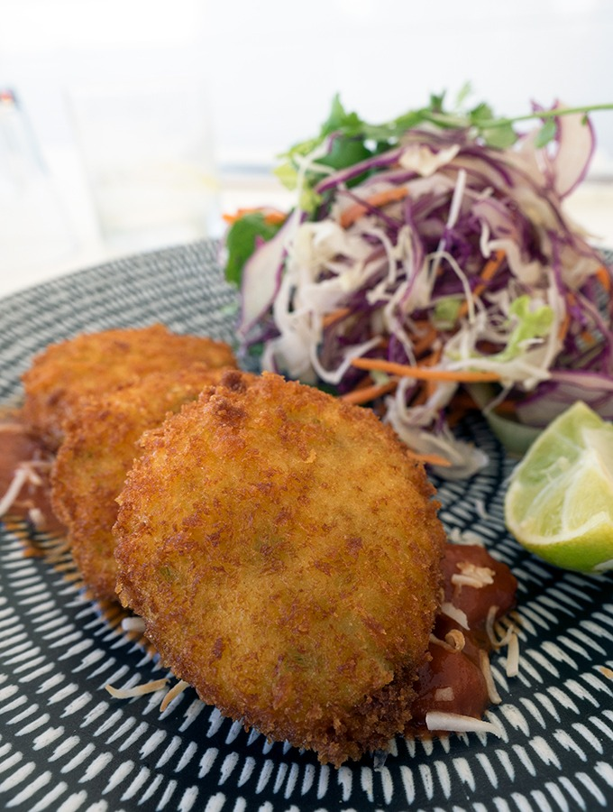 Zimzala Restaurant Cronulla Beach - dog friendly dining in Cronulla - Crab Cakes