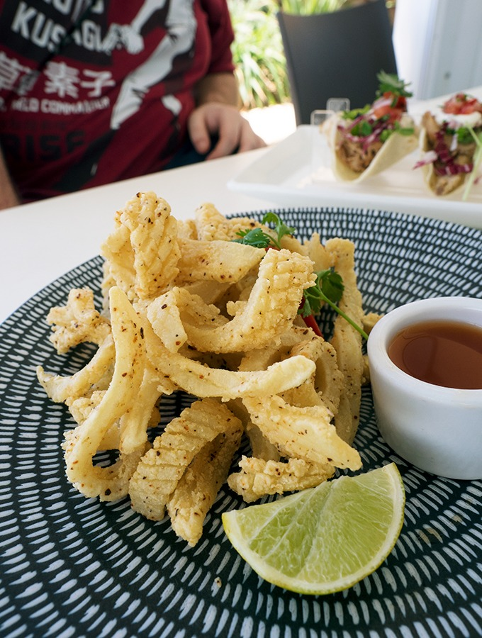 Zimzala Restaurant Cronulla Beach - dog friendly dining in Cronulla - Perfect Salt & Pepper Squid