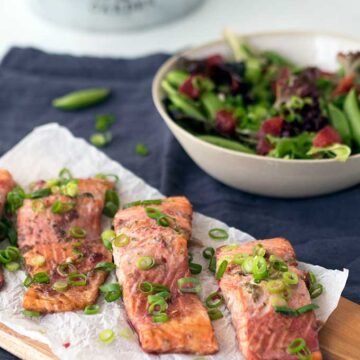 oven baked ocean trout fillets with snow peas