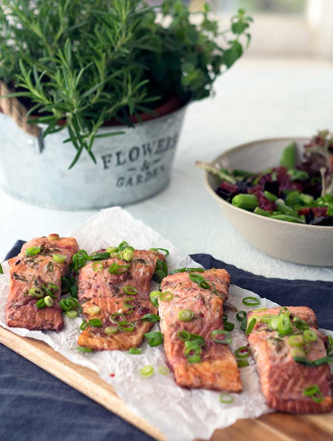 low fat baked ocean trout fillets