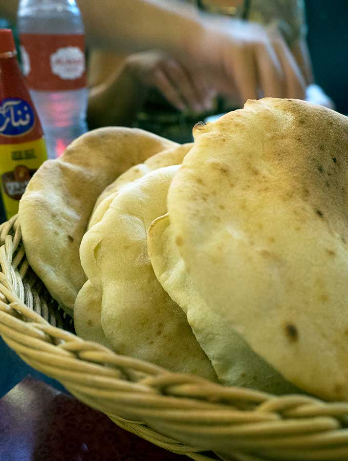 Egyptian flat bread in Dubai