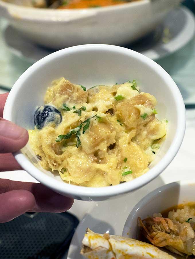 macanese cuisine bacalhau com natas