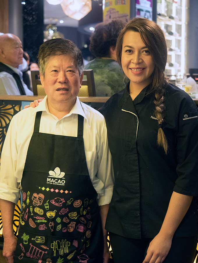 Chef Tong and Chef Palmira Pena
