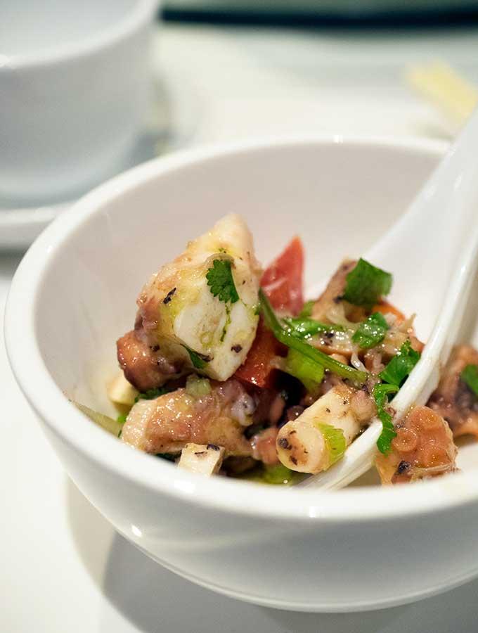 macanese cuisine salada de polvo in a bowl