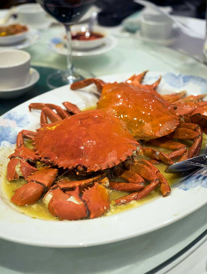 macanese cuisine small steamed mud crabs