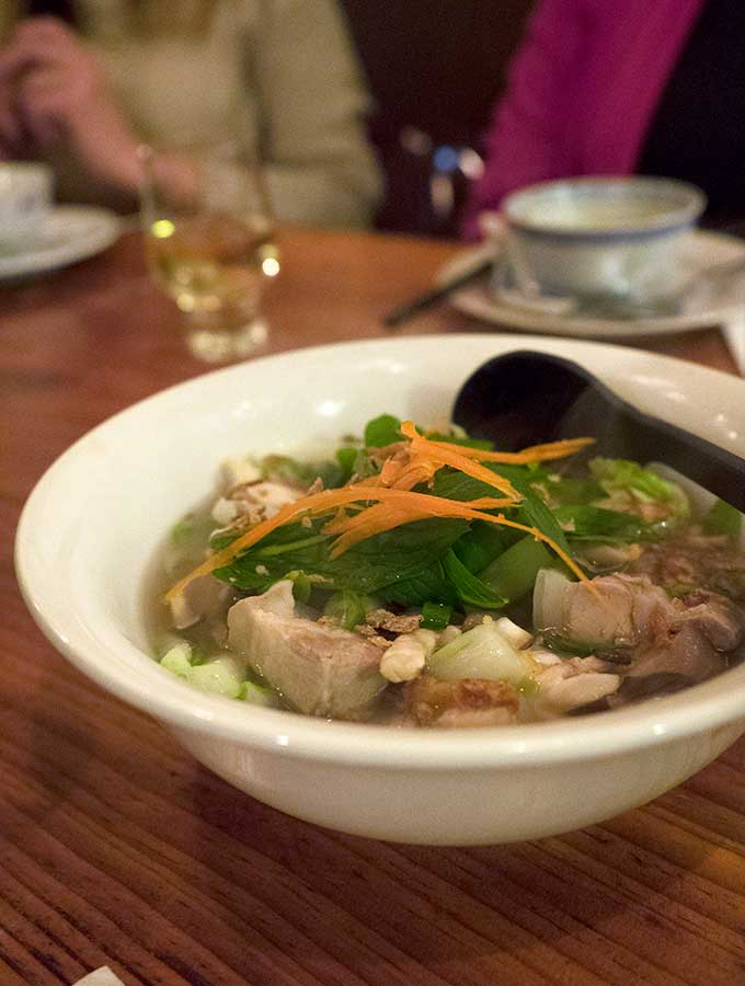 Paydirt Eatery Braidwood pork spare rib broth