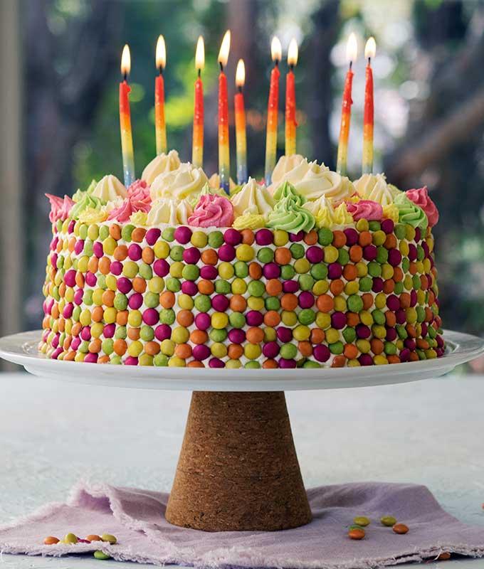 Smarties Chiffon Cake