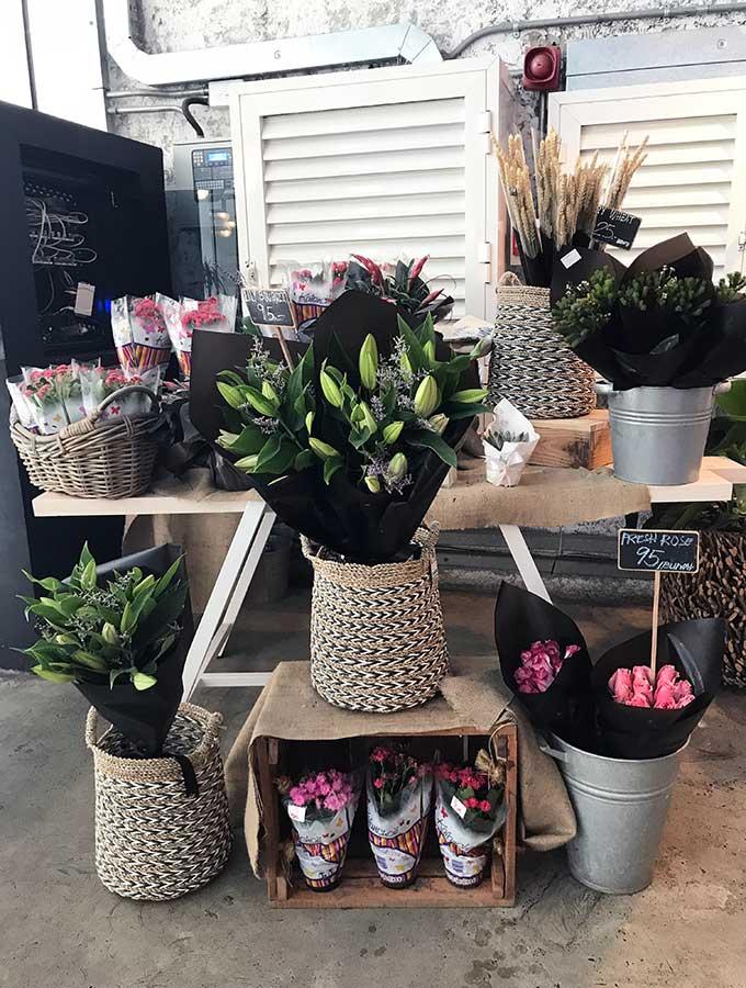 fresh flowers for sale at Tom & Serg in Dubai