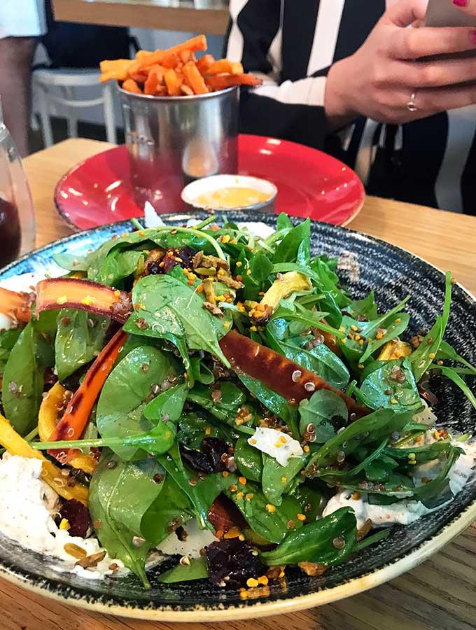 Carrot Heirloom Salad at Tom & Serg Dubai