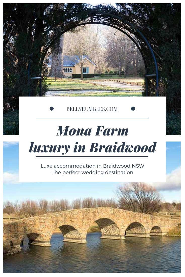 Mona Farm Luxury Accommodation and event destination Braidwood NSW