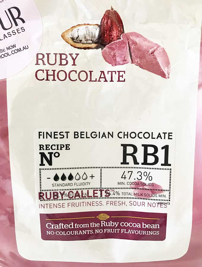 front image of a 2kg packet of RBI ruby callets