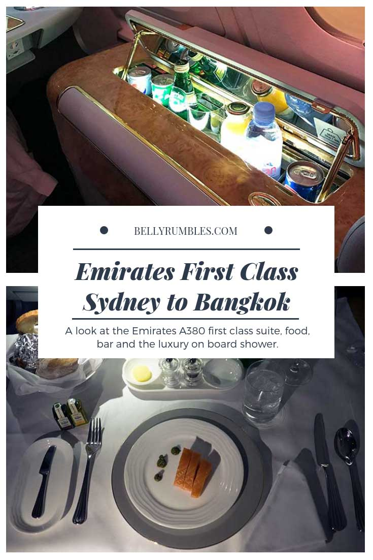 Emirates First Class Sydney to Bangkok Review