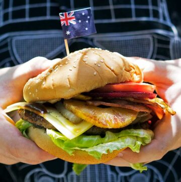 aussie burger with the lot
