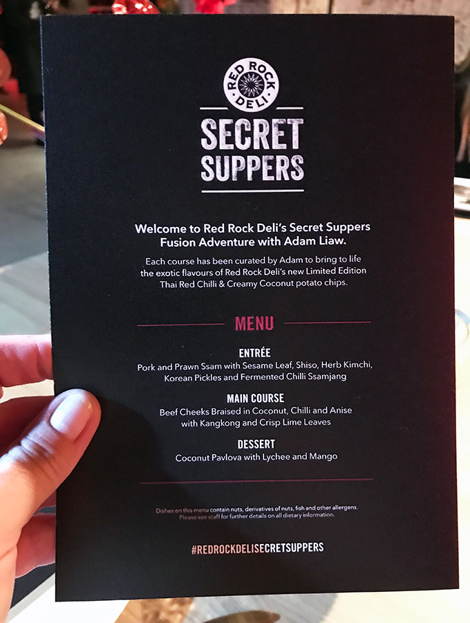 red rock deli secret suppers menu