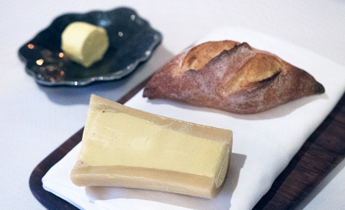 smoked butter in bone marrow and bread