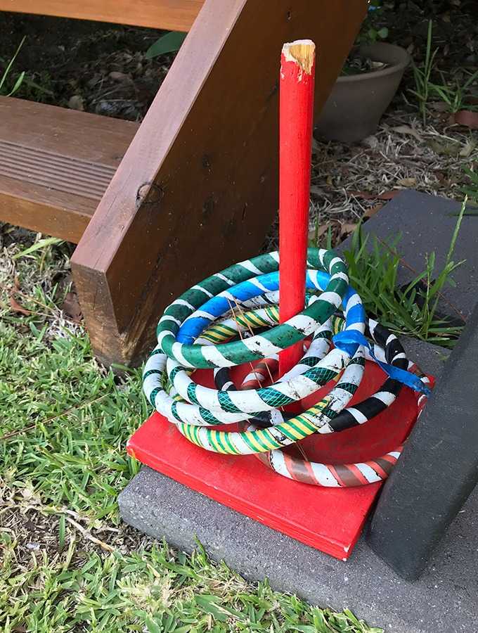 quoits in the backyard of the dog house port maquarie