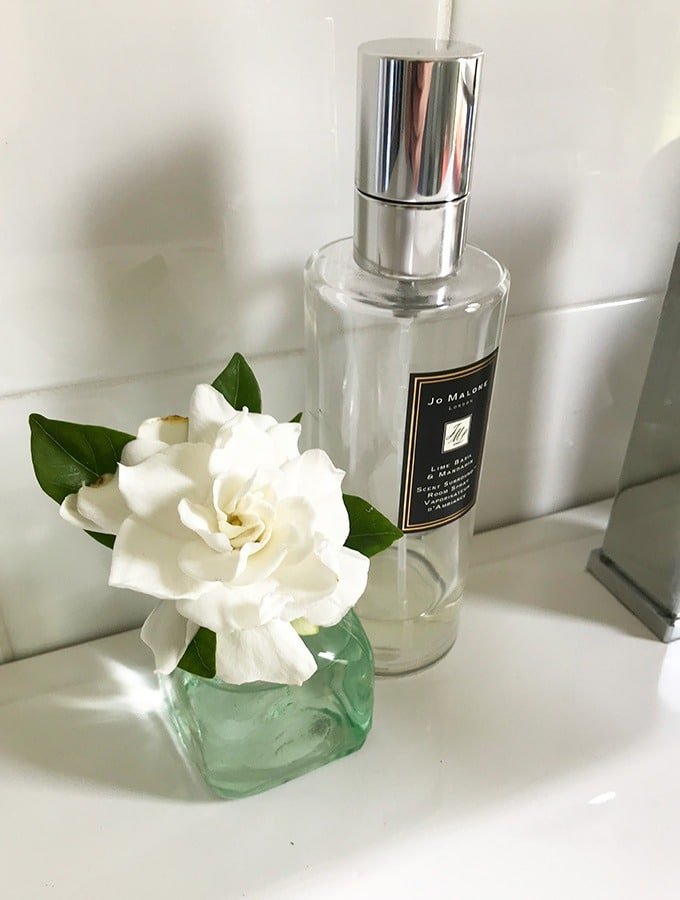 flower and room freshener in the bathroom of the dog house port maquarie