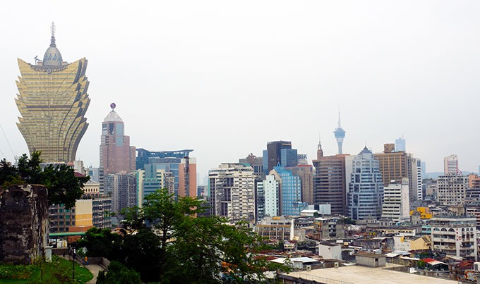 view of the skyline of Macao