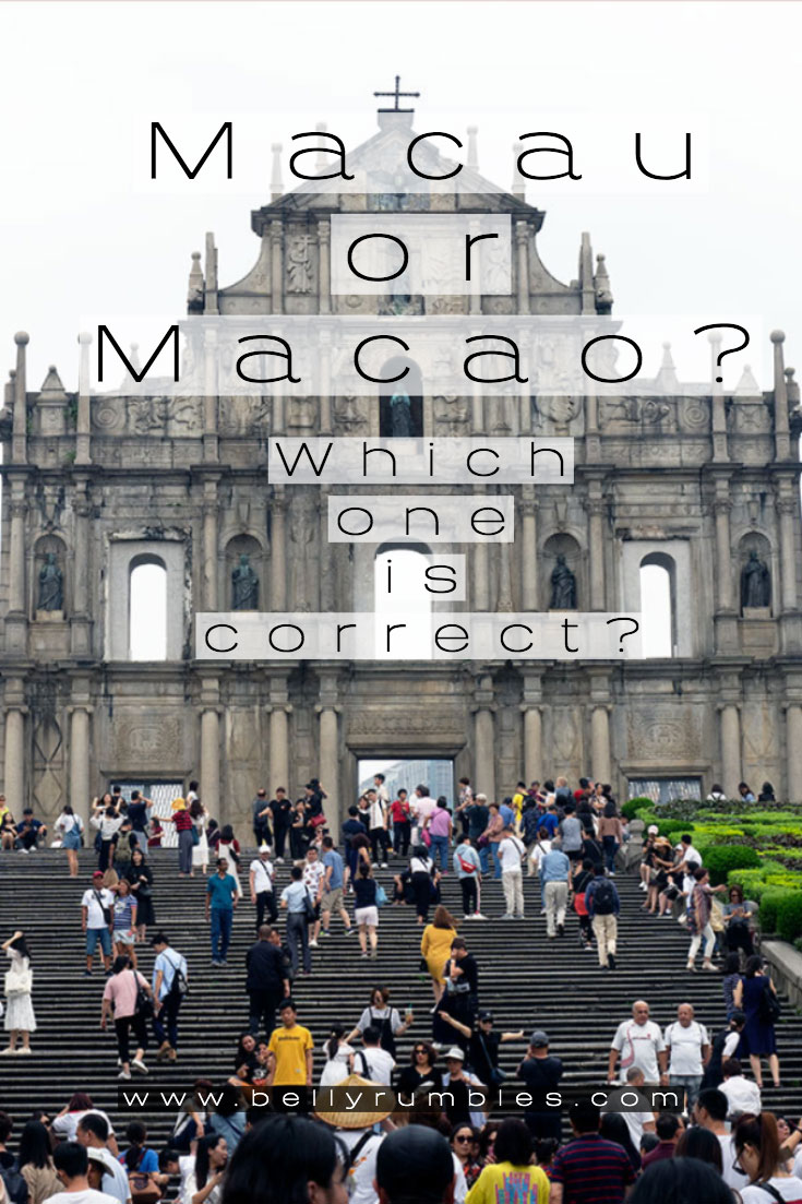 pinterest pin saying is it macao or macau, which one is correct?
