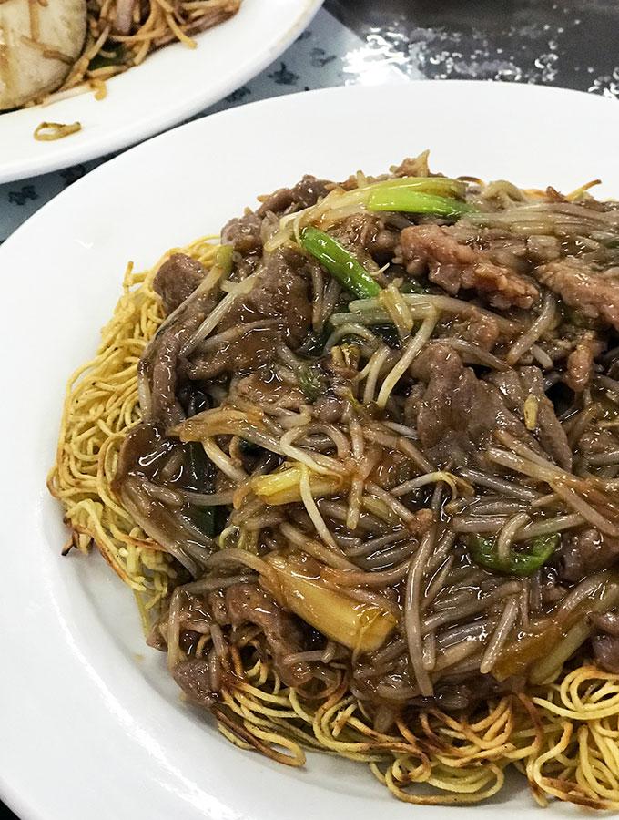 Long Va Tea House in Macao birds nest and beef noodles