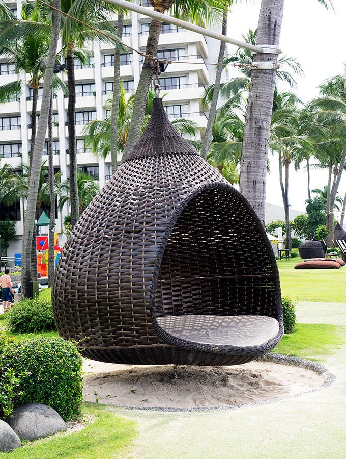 swinging chair at Sofitel Philippine Plaza Manila