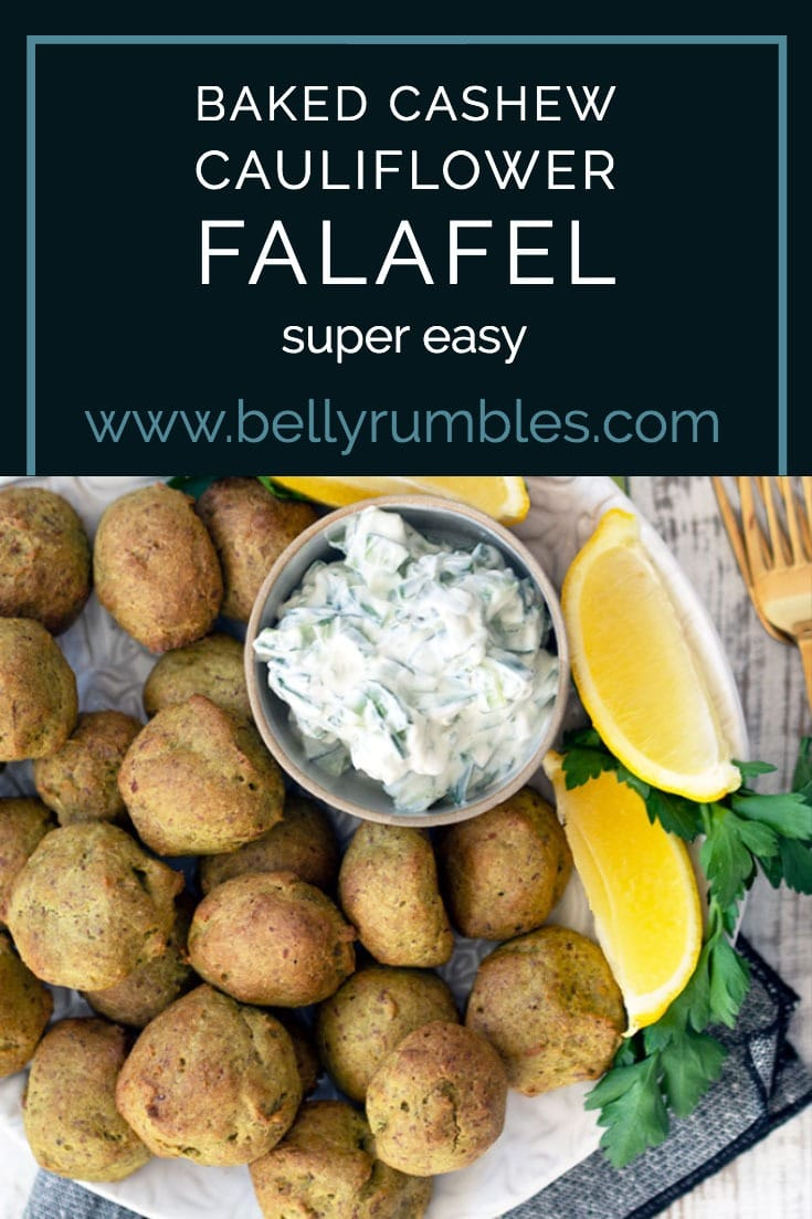 cashew cauliflower falafel pinterest pin