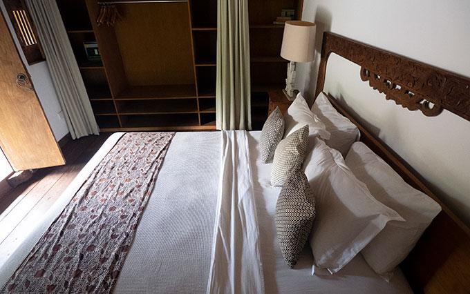 cabin bedroom at villa amore