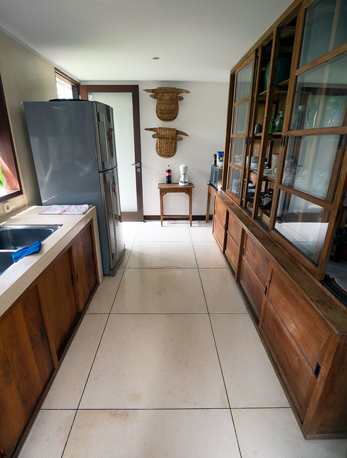 long kitchen at villa amore seminyak bali