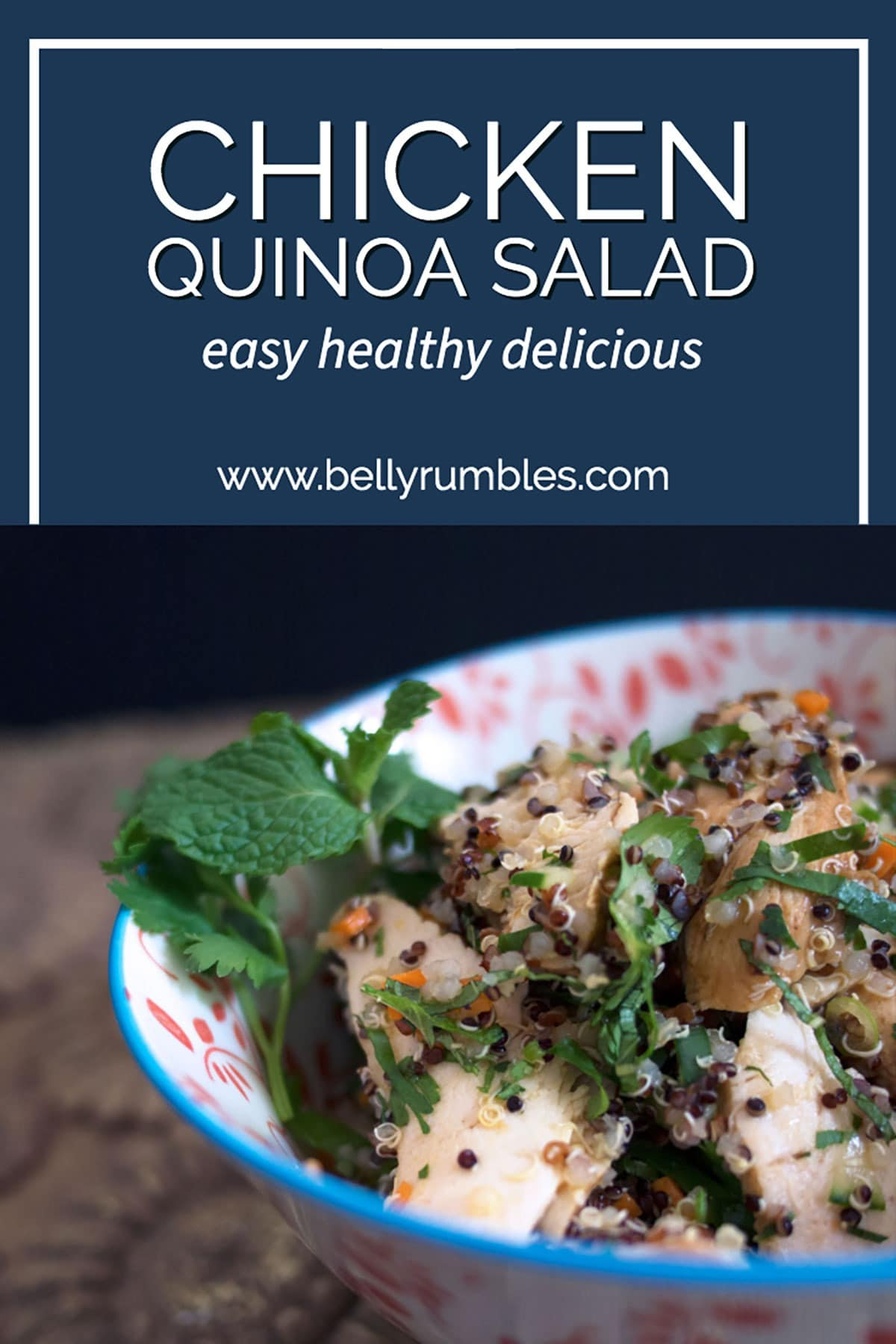 chicken quinoa salad with text
